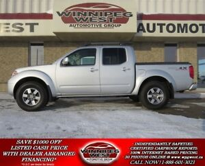 2012 Nissan Frontier PRO-4X CREW 4X4, HEATED LEATHER, SUNROOF &