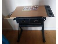 Large, adjustable desk - perfect for drawing.