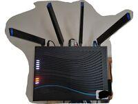 NETGEAR R8500 Nighthawk X8 Tri-Band AC5300 (5.3 Gbps) Smart Wi-Fi Router - Alexa enabled