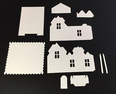 Tim Holtz Village Die Cuts * Village Dwelling * White Cardstock * One Set