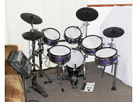 ROLAND *CUSTOM* TD-20 Purple Sparkle V-Drums kit, TDW-20 module SPECTACULAR!!