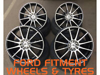 """18"""" DK 102 ALLOY WHEELS WITH TYRES FITS: FORD FOCUS RS ST MONDEO C-MAX S-MAX GALAXY"""