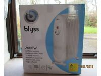 Blyss 2kW oil filled convector heater.
