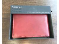 MARKS AND SPENCER AUTOGRAPH LUXURY LEATHER BIFOLD WALLET