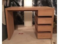 Wooden Desk (oak) in Immaculate Condition