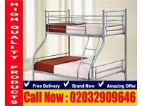 Bunk frame , bedding Double and single reshorten