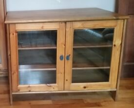 IKEA solid pine TV cabinet stand