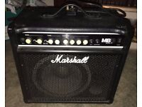 Marshall MB30 Bass Guitar Amp - 2 channels in Ex condition very portable