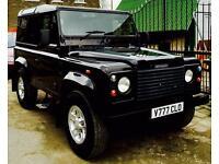 Land Rover Defender 90 2005 TD5 Black.