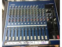 LIVE PA 5000w SYSTEM FOR SALE - JBL SRX PA, QSC AMP RACK, YAMAHA 16 CHAN MIXER, MONITORS