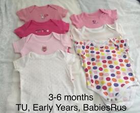 Baby girl 3-6 months vests