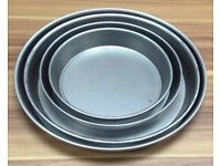"COMMERCIAL CATERING KITCHEN 7"" PIZZA PAN BLACK IRON TAKE AWAY FAST FOOD CAFE KEBAB"