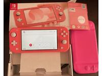 Coral Nintendo Switch Lite + Just Dance 2021