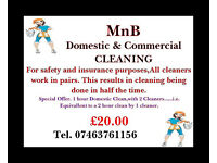 Cleaner. Domestic and Commercial. Regular and One Off cleans