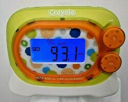 Crayola AM/FM Digital Recordable Customizable Alarm Clock Radio W Night Light