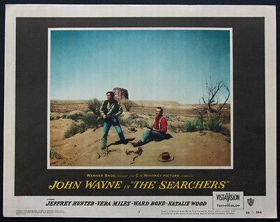 THE SEARCHERS JOHN WAYNE JEFFREY HUNTER IN MONUMENT VALLEY 1956 LOBBY CARD #7