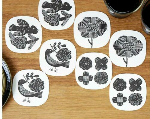 Makoto Kagoshima design coaster Bird flower set of 8