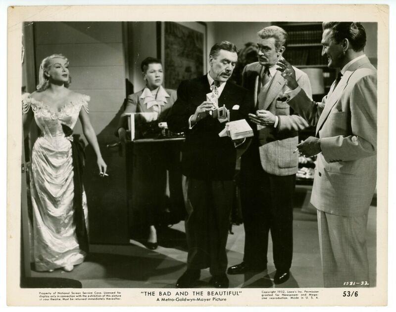 LANA TURNER, KIRK DOUGLAS original movie photo 1952 THE BAD AND THE BEAUTIFUL