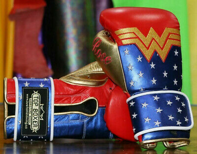CUSTOM TopBoxer Wonder Woman Boxing Gloves. Fully Personalized & Made to Order.