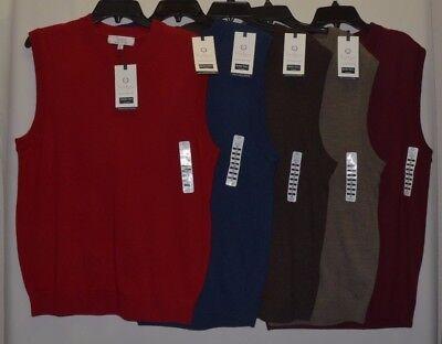 (Turnbury Men's 100% Merino Wool V Neck Sweater Vest Biella Yarn S M L XL New)