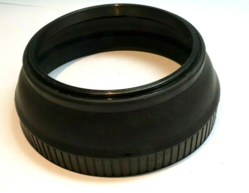 77mm Lens Hood Shade Collapsible Rubber double threaded screw in telephoto