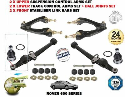 FOR ROVER 600 1993-2000 2 UPPER 2 LOWER SUSPENSION TRACK CONTROL ARM SET + LINKS