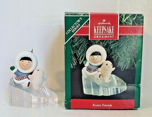 1990 FROSTY FRIENDS Eleventh in Hallmark Series QX4369 Eskimo Flocked Baby Seal