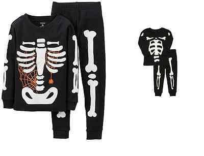 NWT ☀HALLOWEEN☀ CARTERS   Boys  Pajamas   SKELETON  New YOU PICK  12m  - Boys Skeleton Pajamas