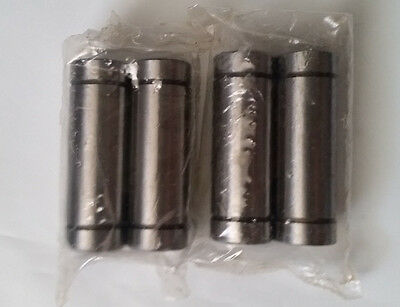 4pcs Lm8luu 8mm Long Linear Motion Bearing Ball Bushing 8x15x45mm Cnc Parts