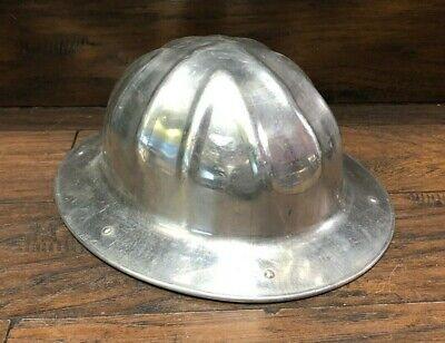 33144 Vintage 1950s  Mcdonald T Hard Hat Cap Aluminum Msa Full Brim Usa