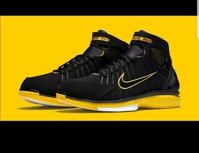Mens Nike Zoom Huarache - Nike Air Zoom Huarache 2K4 Black Varsity Maize Kobe (308475-003) MENS SZ 10.5