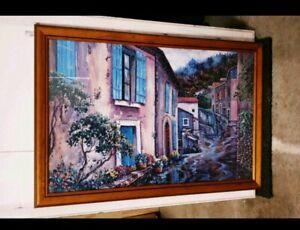 Glass framed jigsaw puzzle