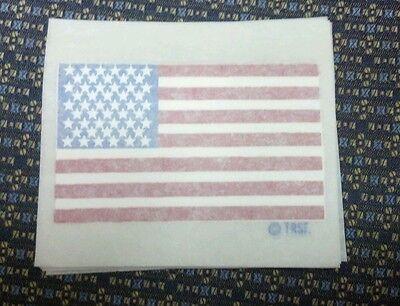 LOT OF 10 USA American Flag HEAT PRESS TRANSFER T Shirt Sweatshirt iron on