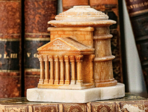 Fantastic Pantheon Antique Grand Tour Carved Model Rome Italy