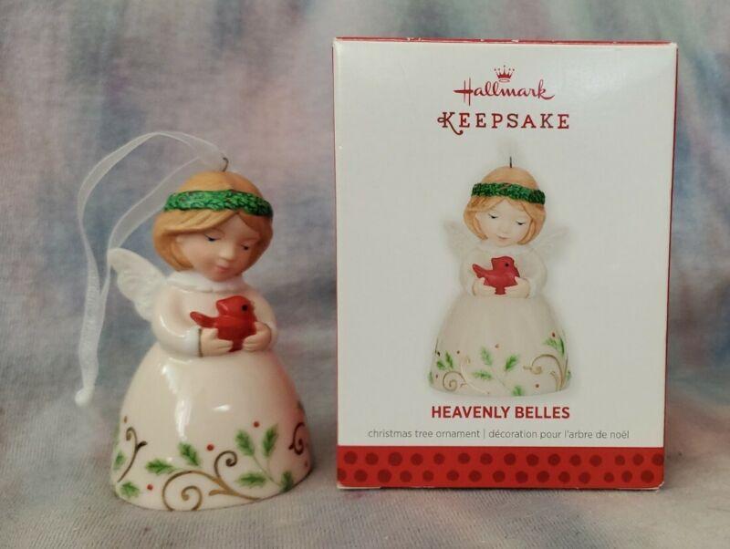 "Hallmark 2013 Keepsake Christmas Bell Ornament ""Heavenly Belles"" Porcelain Angel"