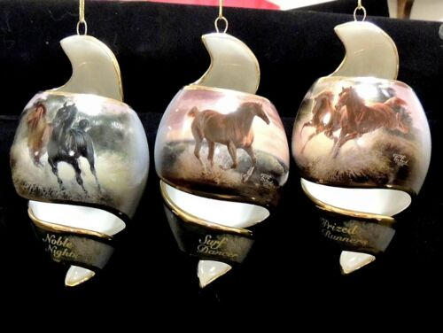 Bradford Free as the Wind Porcelain Ornaments a full set of 12 (3 per box)