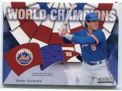 e1d26bbb8b12 2002 Stadium Club World Champion Relics gc2 Gary Carter Jersey