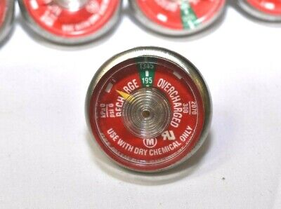 Lot Of 6 -195 Pressure Gauge For Portable Dry Chemical Fire Extinguisher New