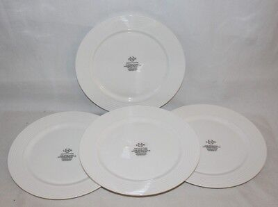 Lenox Tin Can Alley Seven Solid White Dinner Plates Set of Four New (Tin Dinner Plates)