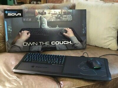 ROCCAT SOVA Gaming Lapboard USB Keyboard, MEMBRANE LED Key - for PC/Xbox/One/PS4