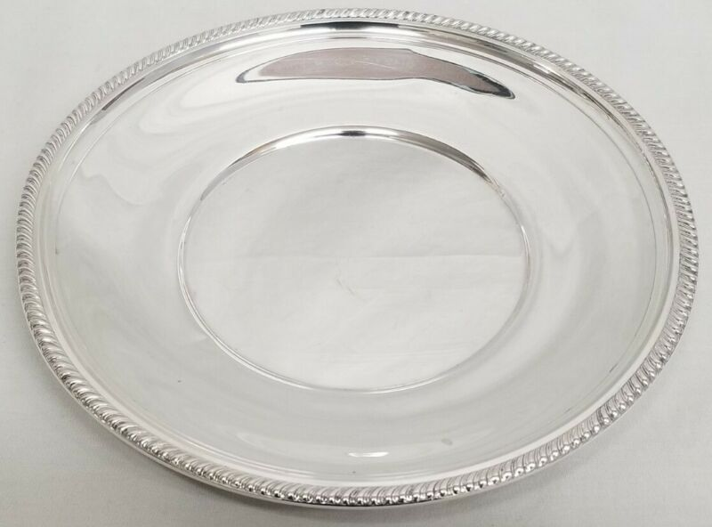 """GORHAM 925 Sterling Silver Gadroon Edge Marked - Pattern 473 - 8-1/4"""" Plate"""