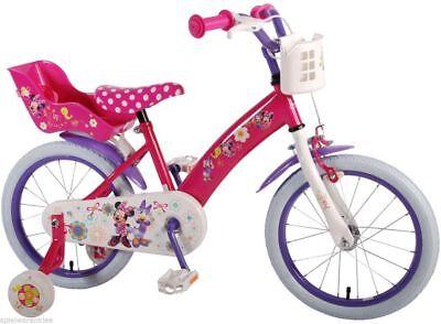 Fahrrad 16 Zoll Mädchen Pink Kinderfahrrad Mädchenfahrrad Disney Minnie Mouse  ()