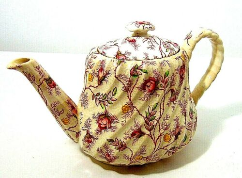 ROSEBUD CHINTZ TEAPOT COFFEE POT COPELAND SPODE CHINA - WITH LID