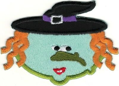 alloween Stickereien patch (Halloween Hexen Cartoons)