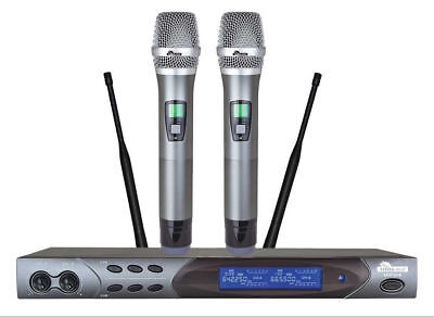 IDOLpro UHF-618 Advanced Technology LCD Display 2 Wireless Karaoke Microphone