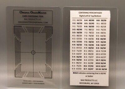 ORIGINAL GRADEMASTER Card Grading / Centering Tool Created in 2015- PSA BGS SGC!