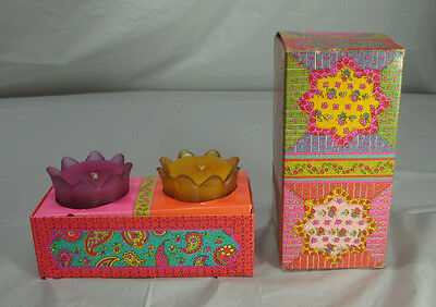 VINTAGE AVON FLORAL MEDLEY PERFUMED CANDLES IN ORIGINAL BOX