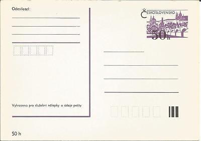 Czechoslovakia         Prepaid 50h        Postal Stationery         Card / Cover