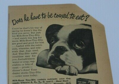 1946 Antique Vtg Magazine Ad Milk Bone Tiny Bits Dog Kellogg Quality Brushes