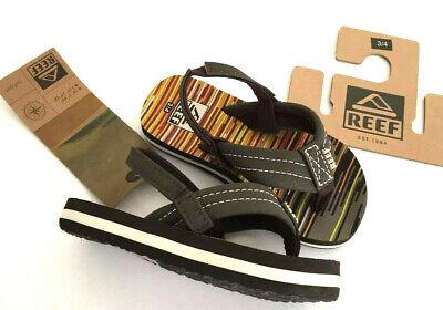 Thong Heel Schuh (REEF Ahi Toddler Sandals Flip Flops Thong Brown Heel Strap NWT Size 3/4 )